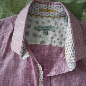 Ted Baker London Linlitt Cotton & Linen Shirt